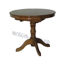 Стол 1-балясный, с обкладом и механизмом, столешница круглая